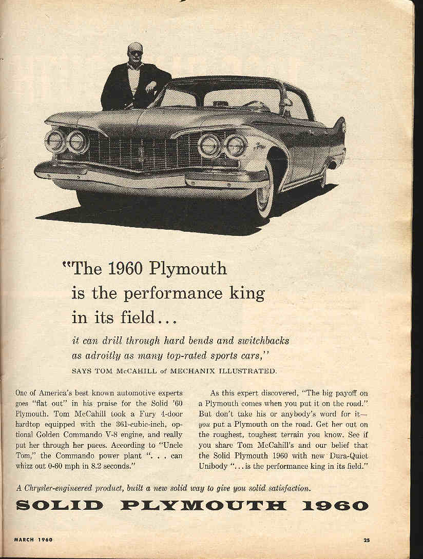 1960 Plymouth Home Page Wiring Diagram For 65 6 A Magazine Ad